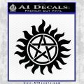 Supernatural Star Tattoo Decal Sticker DZA Black Logo Emblem 120x120