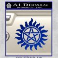 Supernatural Star Tattoo Decal Sticker DZA Blue Vinyl 120x120
