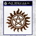 Supernatural Star Tattoo Decal Sticker DZA Brown Vinyl 120x120