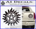 Supernatural Star Tattoo Decal Sticker DZA Carbon Fiber Black 120x97