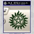 Supernatural Star Tattoo Decal Sticker DZA Dark Green Vinyl 120x120