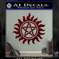 Supernatural Star Tattoo Decal Sticker DZA Dark Red Vinyl 120x120