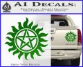 Supernatural Star Tattoo Decal Sticker DZA Green Vinyl 120x97