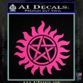 Supernatural Star Tattoo Decal Sticker DZA Hot Pink Vinyl 120x120