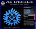 Supernatural Star Tattoo Decal Sticker DZA Light Blue Vinyl 120x97