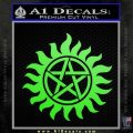 Supernatural Star Tattoo Decal Sticker DZA Lime Green Vinyl 120x120