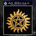 Supernatural Star Tattoo Decal Sticker DZA Metallic Gold Vinyl 120x120