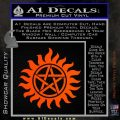 Supernatural Star Tattoo Decal Sticker DZA Orange Vinyl Emblem 120x120