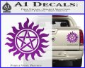 Supernatural Star Tattoo Decal Sticker DZA Purple Vinyl 120x97