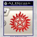 Supernatural Star Tattoo Decal Sticker DZA Red Vinyl 120x120