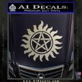 Supernatural Star Tattoo Decal Sticker DZA Silver Vinyl 120x120