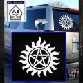 Supernatural Star Tattoo Decal Sticker DZA White Emblem 120x120