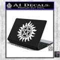 Supernatural Star Tattoo Decal Sticker DZA White Vinyl Laptop 120x120