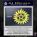 Supernatural Star Tattoo Decal Sticker DZA Yelllow Vinyl 120x120
