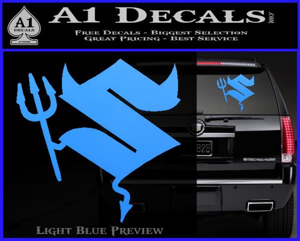 Suzuki Devil Decal Sticker » A1 Decals