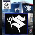 Suzuki Devil Decal Sticker White Emblem 120x120