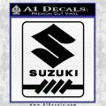 Suzuki Logo RT Decal Sticker Black Logo Emblem 120x120