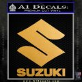 Suzuki Stacked Decal Sticker Metallic Gold Vinyl 120x120