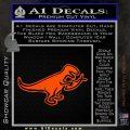 T Rex Your Jesus Fish Was Delicious Dinosaur Vinyl Decal Sticker Orange Vinyl Emblem 120x120