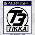 T3 Tikka Logo Gun Vinyl Decal Sticker Black Logo Emblem 120x120