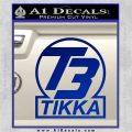 T3 Tikka Logo Gun Vinyl Decal Sticker Blue Vinyl 120x120