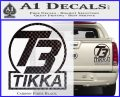T3 Tikka Logo Gun Vinyl Decal Sticker Carbon Fiber Black 120x97