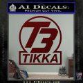 T3 Tikka Logo Gun Vinyl Decal Sticker Dark Red Vinyl 120x120
