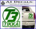 T3 Tikka Logo Gun Vinyl Decal Sticker Green Vinyl 120x97