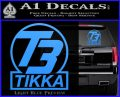 T3 Tikka Logo Gun Vinyl Decal Sticker Light Blue Vinyl 120x97