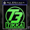 T3 Tikka Logo Gun Vinyl Decal Sticker Lime Green Vinyl 120x120