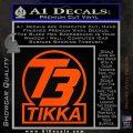 T3 Tikka Logo Gun Vinyl Decal Sticker Orange Vinyl Emblem 120x120