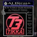 T3 Tikka Logo Gun Vinyl Decal Sticker Pink Vinyl Emblem 120x120