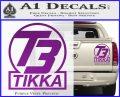 T3 Tikka Logo Gun Vinyl Decal Sticker Purple Vinyl 120x97