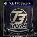 T3 Tikka Logo Gun Vinyl Decal Sticker Silver Vinyl 120x120