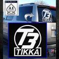 T3 Tikka Logo Gun Vinyl Decal Sticker White Emblem 120x120