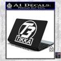 T3 Tikka Logo Gun Vinyl Decal Sticker White Vinyl Laptop 120x120
