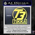 T3 Tikka Logo Gun Vinyl Decal Sticker Yelllow Vinyl 120x120
