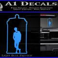 TARDIS Doctor Inside Decal Sticker Light Blue Vinyl 120x120