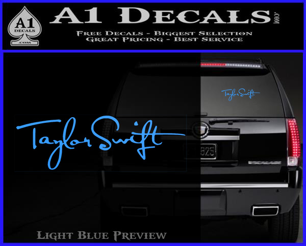 Taylor Swift Signature Logo Decal Sticker 187 A1 Decals