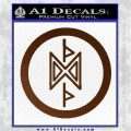 THE HOBBIT SYMBOL LORD OF THE RINGS VINYL DECAL STICKER Brown Vinyl 120x120