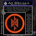 THE HOBBIT SYMBOL LORD OF THE RINGS VINYL DECAL STICKER Orange Vinyl Emblem 120x120