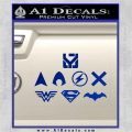 THE JUSTICE LEAGUE LOGO SET VINYL DECAL STICKER Blue Vinyl 120x120