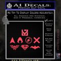 THE JUSTICE LEAGUE LOGO SET VINYL DECAL STICKER Pink Vinyl Emblem 120x120