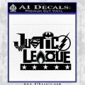 THE JUSTICE LEAGUE TEXT LOGO VINYL DECAL STICKER Black Logo Emblem 120x120