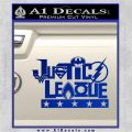 THE JUSTICE LEAGUE TEXT LOGO VINYL DECAL STICKER Blue Vinyl 120x120