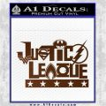THE JUSTICE LEAGUE TEXT LOGO VINYL DECAL STICKER Brown Vinyl 120x120