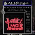 THE JUSTICE LEAGUE TEXT LOGO VINYL DECAL STICKER Pink Vinyl Emblem 120x120