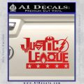 THE JUSTICE LEAGUE TEXT LOGO VINYL DECAL STICKER Red Vinyl 120x120