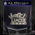 THE JUSTICE LEAGUE TEXT LOGO VINYL DECAL STICKER Silver Vinyl 120x120