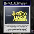 THE JUSTICE LEAGUE TEXT LOGO VINYL DECAL STICKER Yelllow Vinyl 120x120